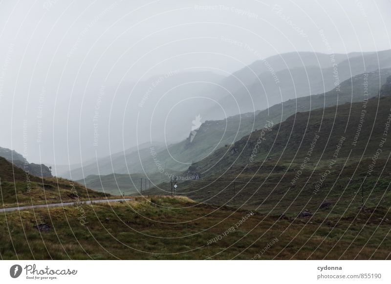 Wetterwechsel Natur Ferien & Urlaub & Reisen Einsamkeit Landschaft ruhig Ferne Berge u. Gebirge Umwelt Wege & Pfade Freiheit Horizont träumen Regen Nebel Idylle