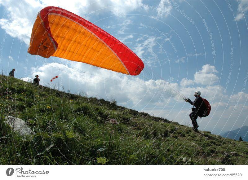 flugangst springen Luftverkehr Gleitschirmfliegen Abheben Fallschirm Extremsport Höhenflug