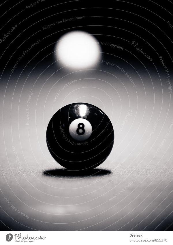no. 8 Freizeit & Hobby Spielen Billard Sport Poolbillard Kugel Billardkugel Queue Ziffern & Zahlen authentisch Originalität schwarz weiß Schwarzweißfoto