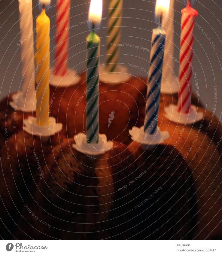 Kindergeburtstag Freude Leben Glück Häusliches Leben leuchten Dekoration & Verzierung Idylle Geburtstag Kindheit Fröhlichkeit Freundlichkeit Kerze heiß Kuchen