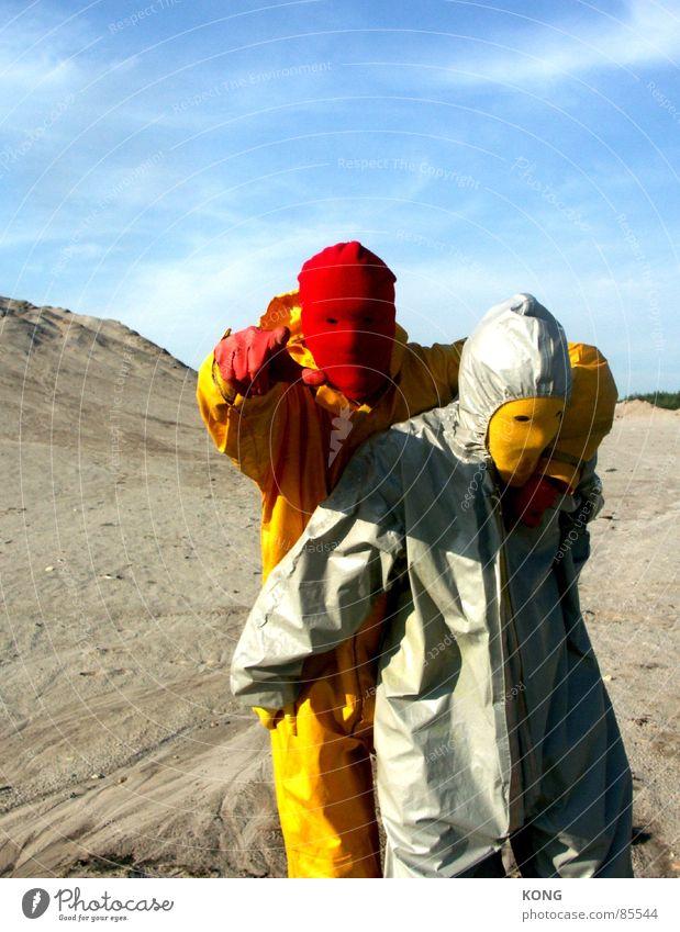 freunde™ Himmel Sommer Freude gelb grau Freundschaft Erde mehrere Wüste Maske Anzug viele Schönes Wetter Kies Mitarbeiter Planet
