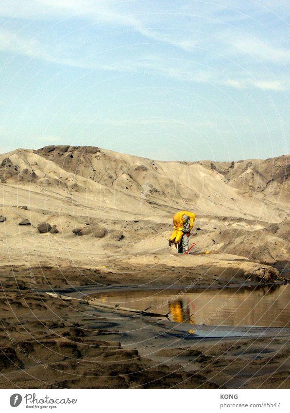 grau™ nimmt gelb™  hoch Wasser Himmel Freude gelb grau Sand Freundschaft Erde Hilfsbereitschaft mehrere Bodenbelag Wüste Maske Anzug viele Schönes Wetter