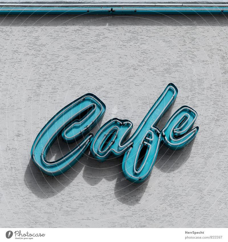 Café Türkis Ferien & Urlaub & Reisen Restaurant Essen trinken Wien Österreich Stadtzentrum Haus Bauwerk Gebäude Mauer Wand Fassade Glas Metall Schriftzeichen