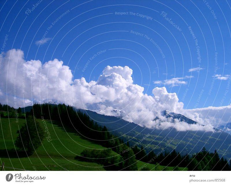Bergblick Sommer Aussicht Himmel Wolken Berge u. Gebirge Natur Landschaft Bergfrühling Himmelszelt warme jahreszeit