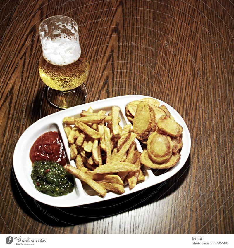goldgelb™ neulich in der Baumhaus Mensa A4 Blume Ernährung Tisch trinken Bier heiß Teller Alkohol Fett Mahlzeit Festessen Theke Geschirr Fastfood Gischt Vesper