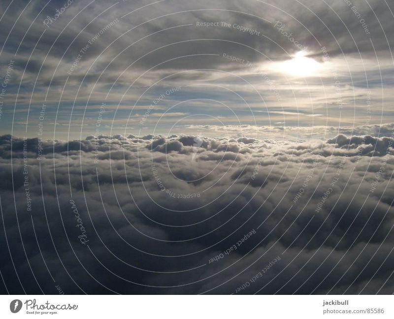 Über den Wolken Himmel Sonne Ferien & Urlaub & Reisen Luft fliegen Luftverkehr