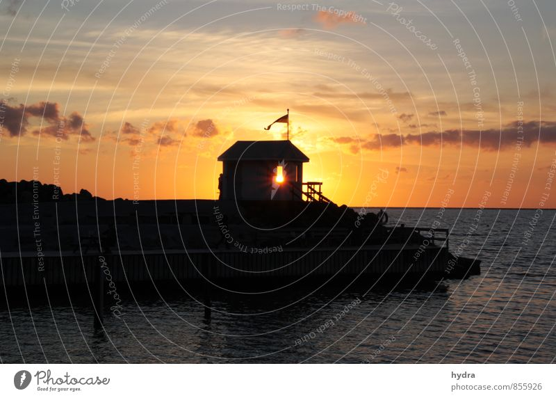 Schwedischer Moment Ferien & Urlaub & Reisen Freiheit Sommerurlaub Meer Fernweh Wassersport Himmel Wolken Horizont Sonnenaufgang Sonnenuntergang Schönes Wetter