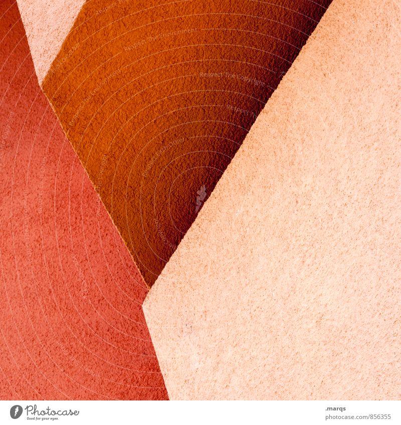 Rot rot Wand Architektur Stil Mauer Hintergrundbild Linie Ordnung elegant Design Coolness Grafik u. Illustration trendy eckig minimalistisch Präzision