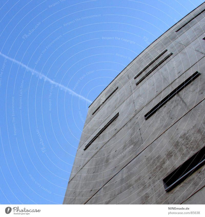 Briefkasten IV Haus kalt Fenster grau Deutschland Eis verrückt Industrie einfach Stadtteil 8 eckig Rechteck Bürogebäude Karlsruhe