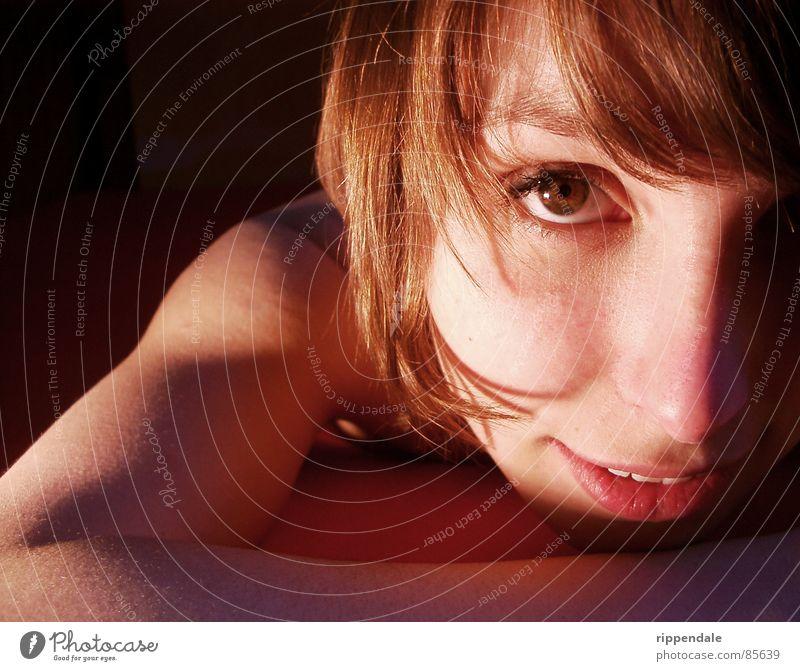 nora große augen Frau schön Auge Gefühle lachen Romantik attraktiv verführerisch