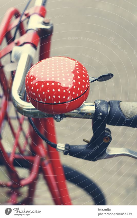 ton in ton Farbe rot Bewegung Sport Freizeit & Hobby Fahrrad Dinge ästhetisch Fitness rund Fahrradfahren Punkt Gerät gepunktet Straßenverkehr