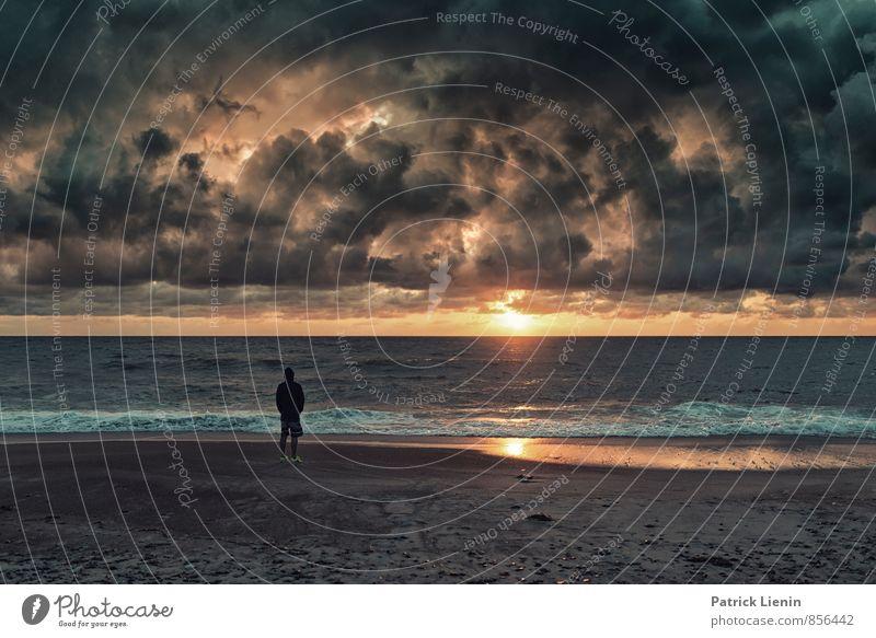 Silent Picture Himmel Natur Ferien & Urlaub & Reisen Wasser Meer Erholung Landschaft ruhig Wolken Strand Ferne Umwelt Küste Freiheit Luft Wetter