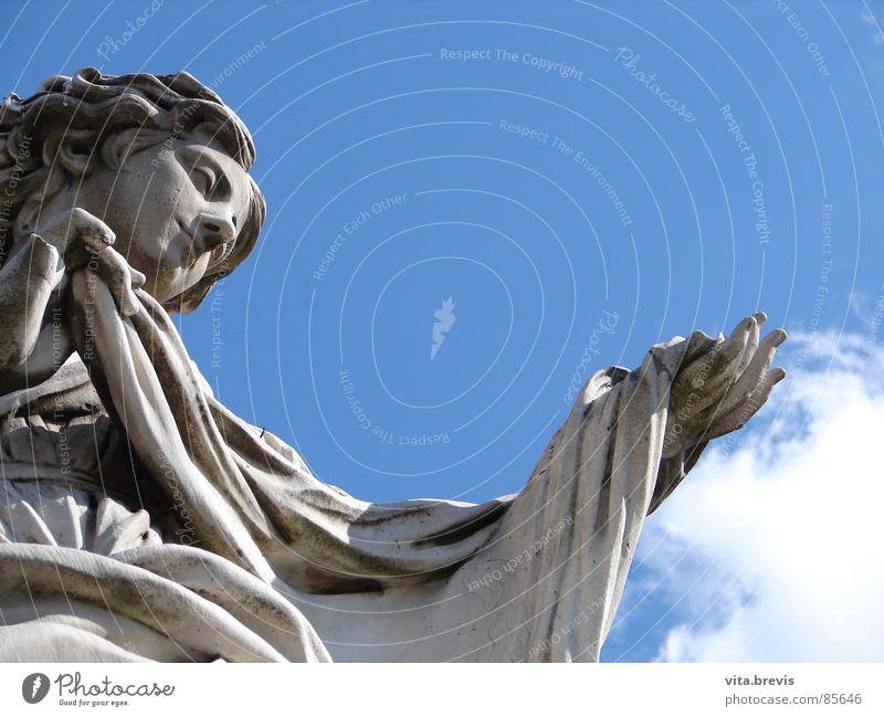 engelsbrücke schön Himmel Brücke Engel bauen Kraft Vertrauen Hoffnung Ewigkeit Religion & Glaube Rom tröstlich Anmut Paradies gottesbote geistigkeit