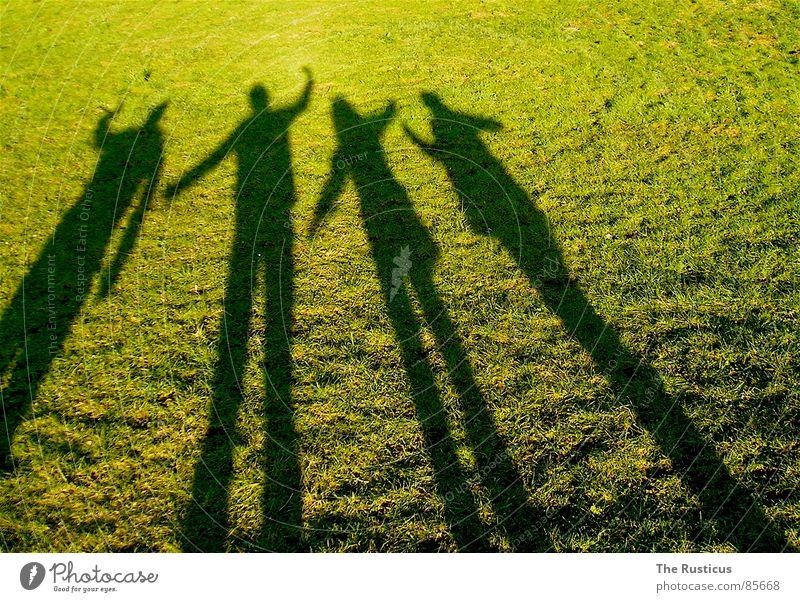 Friends 4 grün schwarz Freundschaft Freude Schatten