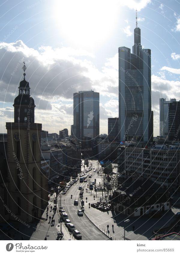 skyline frankfurt am main Straße Deutschland Verkehr Frankfurt am Main Stadtzentrum Commerzbank