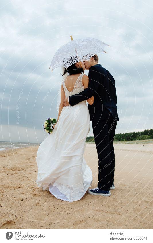 Küsse Lifestyle elegant Stil Freude Freizeit & Hobby Veranstaltung Feste & Feiern Flirten Hochzeit Familie & Verwandtschaft Freundschaft Paar Partner Natur