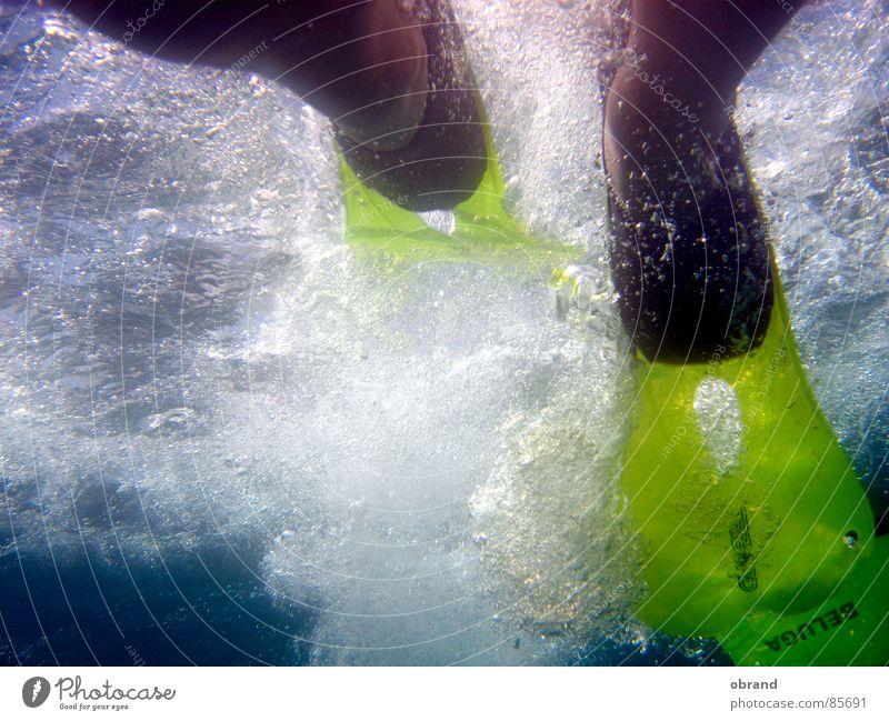 Flossenschlag Schnorcheln Luftblase Wasserwirbel Sport Spielen Schwimmhilfe Schwimmen & Baden Unterwasseraufnahme Fuß