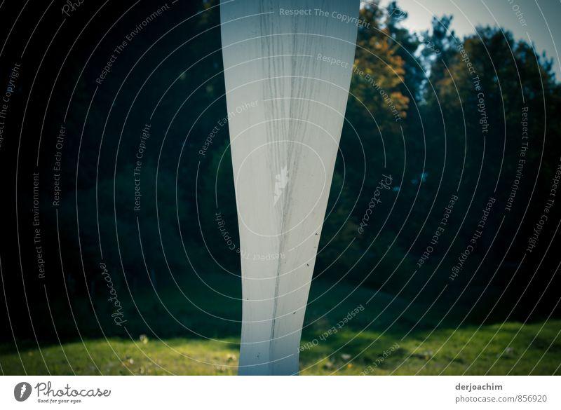Strich in der Landschaft Stil harmonisch ruhig Ausflug wandern Kunst Kunstwerk Skulptur Umwelt Sommer Schönes Wetter Baum Gras Tal Franken Bayern Deutschland