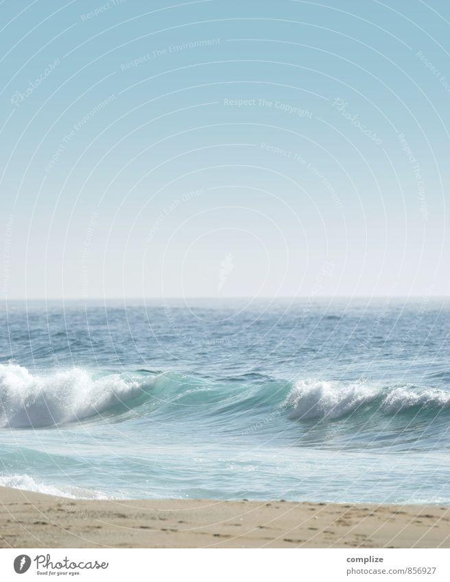 Welle Himmel Natur Ferien & Urlaub & Reisen Wasser Sommer Sonne Meer Erholung ruhig Strand Ferne Umwelt Küste Gesundheit Horizont Wellen