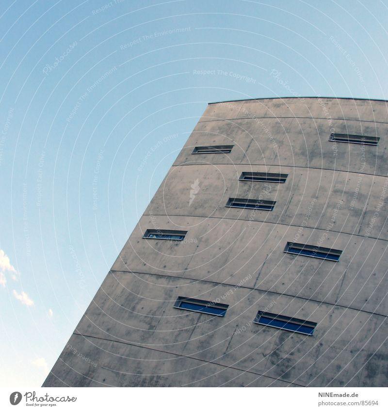 Briefkasten V Haus kalt Fenster grau Deutschland Eis verrückt Industrie einfach Stadtteil 8 eckig Rechteck Bürogebäude Karlsruhe