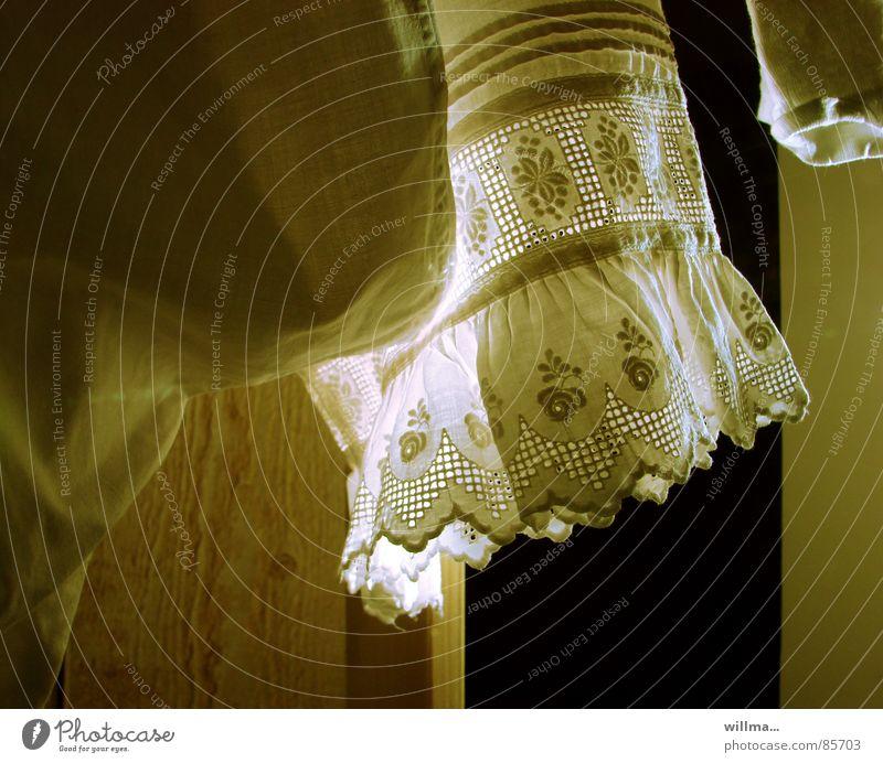- ommas dessous - Seil Bekleidung Stoff Spitze Nostalgie Wäsche waschen Unterwäsche trocknen Haushalt Unterhose früher Wäscheleine bügeln gewaschen