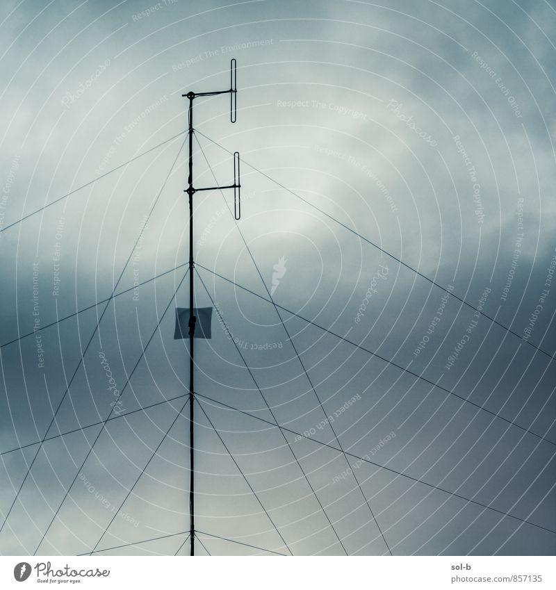 spprt Häusliches Leben Dienstleistungsgewerbe Telekommunikation sprechen Technik & Technologie Informationstechnologie Himmel Wolken Antenne Kommunizieren hoch