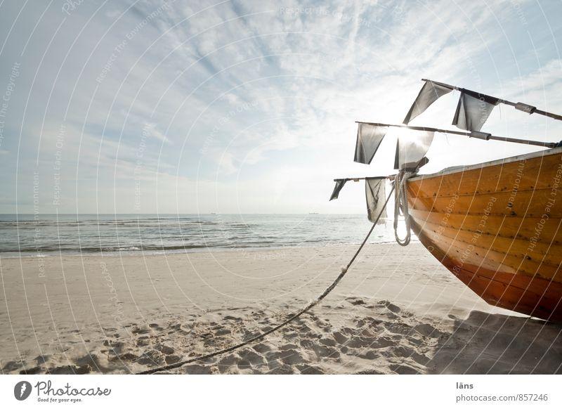 aufbruchsstimmung... Ferien & Urlaub & Reisen Tourismus Ausflug Freiheit Strand Meer Insel Wellen Fischereiwirtschaft Fischerboot Sand Wolken Horizont