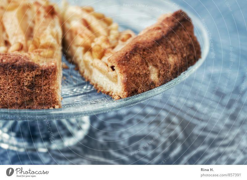 Apfelkuchen süß lecker Kuchen Backwaren Tischwäsche Teigwaren Apfelkuchen Tortenplatte