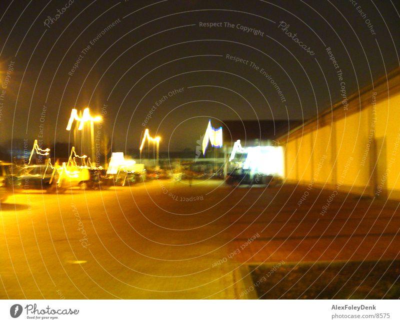 Streetlights Laterne Licht Lichtspiel Nacht Langzeitbelichtung Straße Abend Wege & Pfade