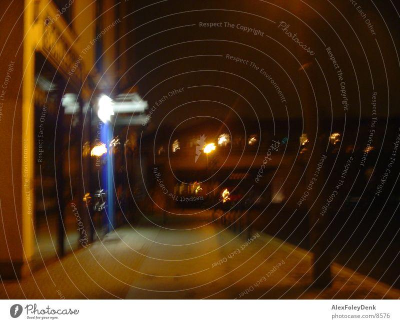 Dark Street dunkel Nacht Langzeitbelichtung Straße Licht Wege & Pfade