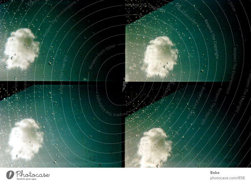 aus dem Fenster 1 Wolken Fenster Regen Lomografie