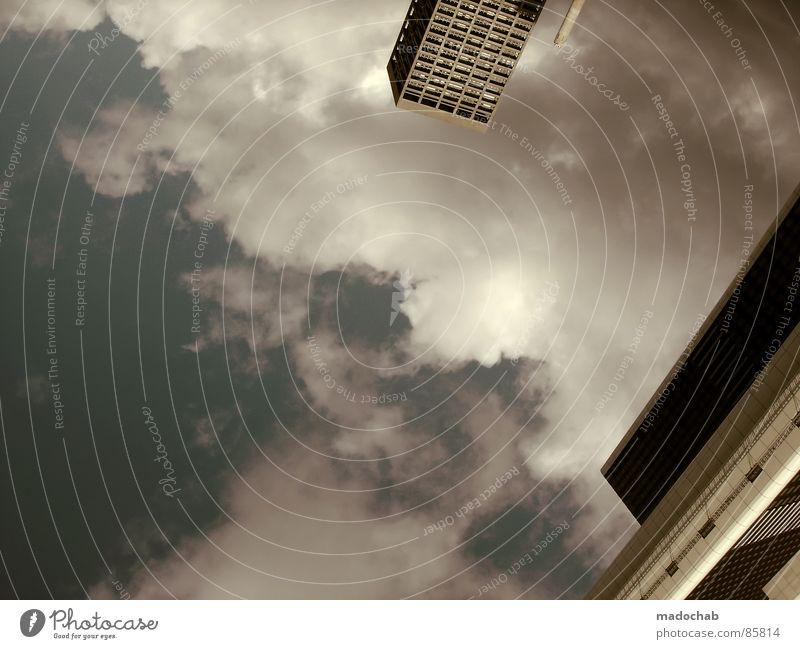 SKYSCRAPERS Himmel Stadt blau Wolken Haus Fenster Leben Architektur Gebäude Freiheit fliegen oben Arbeit & Erwerbstätigkeit Wohnung Design Wetter