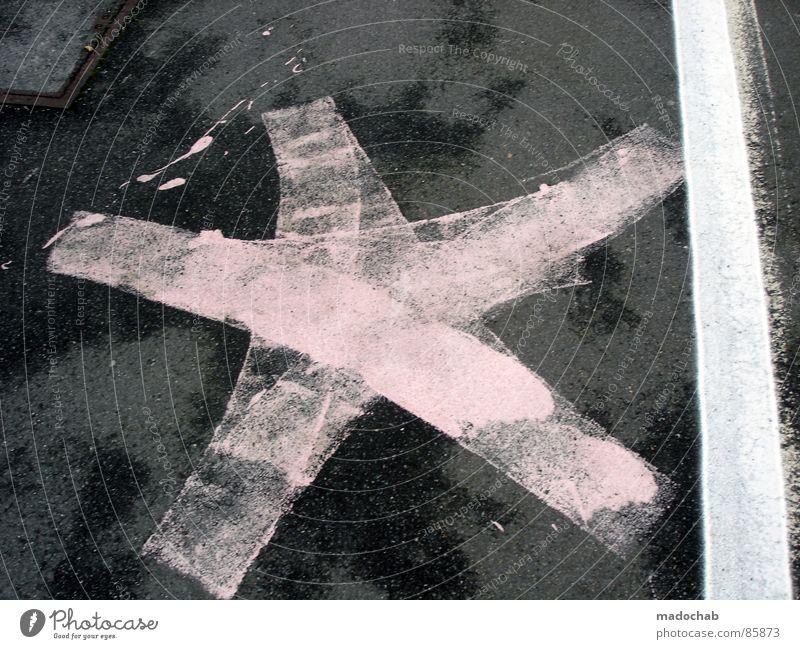 HIMMEL AUF ERDEN Linie Graffiti Schilder & Markierungen Stern (Symbol) Kommunizieren Bodenbelag Zeichen trashig Symbole & Metaphern Starruhm Schmiererei