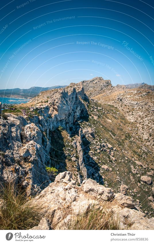Tramuntana Gebirge (Mallorca) Natur Ferien & Urlaub & Reisen Sommer Meer Erholung ruhig Berge u. Gebirge Wärme Leben Gras Felsen Zufriedenheit Tourismus