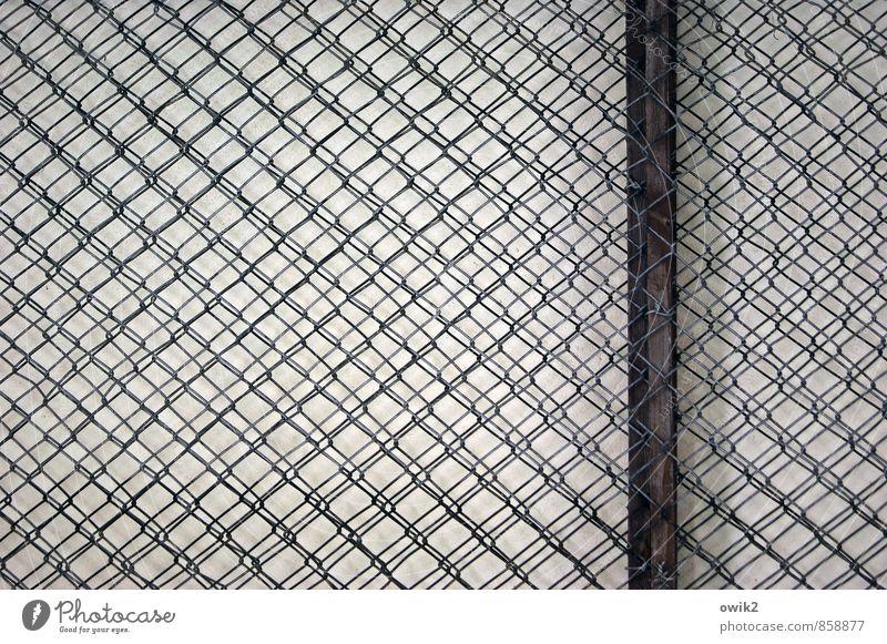 Festnetz Maschendrahtzaun netzartig Netz Netzwerk eng fest dicht geflochten Flechtwerk Metallzaun Holz Stab Rahmen Teile u. Stücke nah Schutz gleich komplex