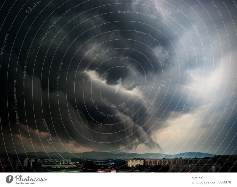 Zugriff Umwelt Natur Landschaft Gewitterwolken Horizont Klima Klimawandel schlechtes Wetter Unwetter Sturm Bautzen Deutschland Lausitz Ostsachsen Kleinstadt