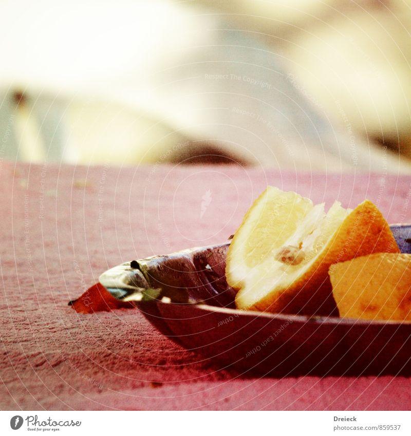 Zitrone Lebensmittel Frucht Zitrusfrüchte zitronengelb Schalen & Schüsseln frisch Gesundheit lecker natürlich saftig sauer rosa Außenaufnahme
