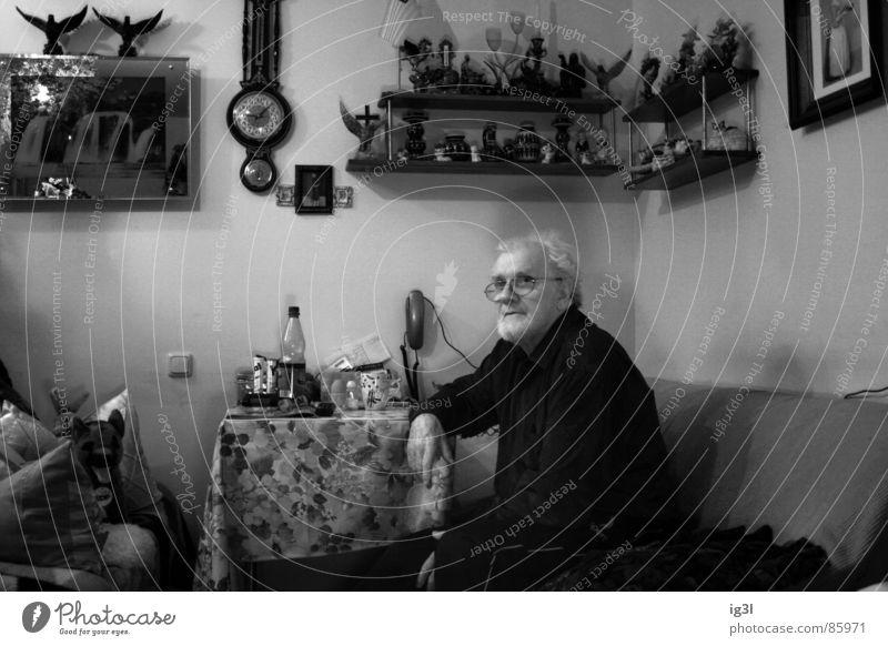 warten auf Erlösung erinnern Krimskrams vollgestellt Oldtimer Partnerschaft Großvater Blume Müdigkeit ausgebrannt Leben Sofa Schmuck Erinnerung Gedanke Denken