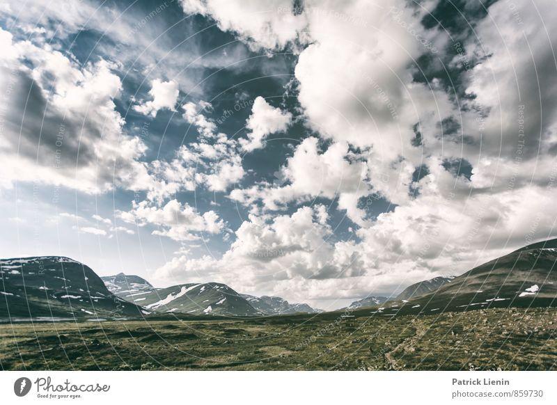 Midnight Sun II Himmel Natur Ferien & Urlaub & Reisen Sommer Einsamkeit Landschaft Wolken Ferne Umwelt Berge u. Gebirge Freiheit Stimmung Wetter Luft Wind