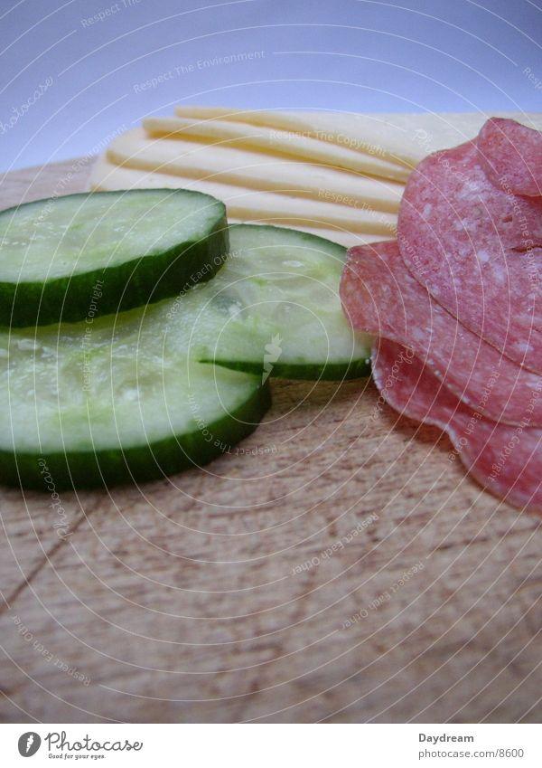 Vesper Schneidebrett Käse Salami Abendessen Ernährung Gruken