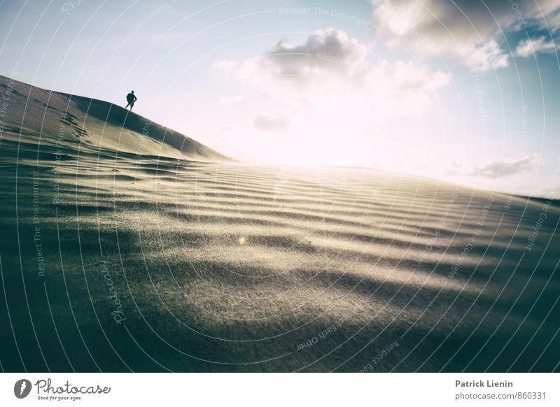 Day in the Dunes II Mensch Himmel Natur Ferien & Urlaub & Reisen Mann Sonne Erholung Landschaft ruhig Wolken Ferne Umwelt Erwachsene Wärme Freiheit Sand