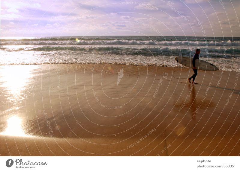 El Cotillo Surfen Wellen Sandstrand Strand Meer Atlantik Brandung Sommer Surfer Fuerteventura Wassersport wavesurfer sufr shortboard northshor beachbreak Lippen
