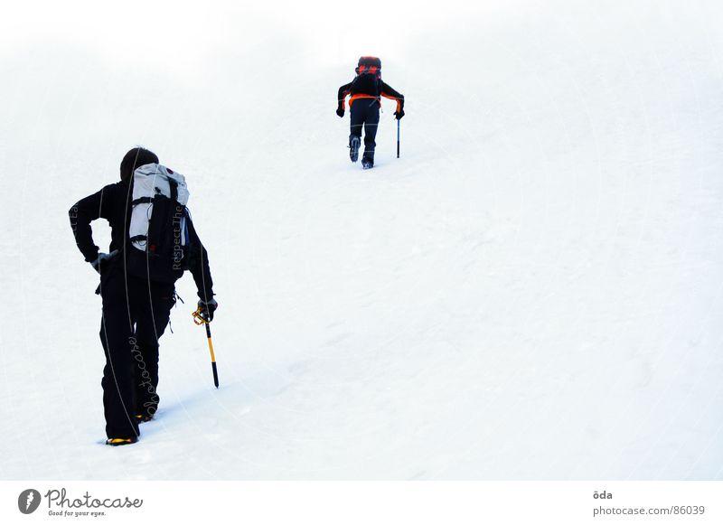 Schneeeeee... Mensch Winter Ferien & Urlaub & Reisen kalt Schnee Berge u. Gebirge Eis Niveau Klettern Bergsteigen Gletscher Expedition Rucksack Wanderschuhe Eispickel Kletterhilfe