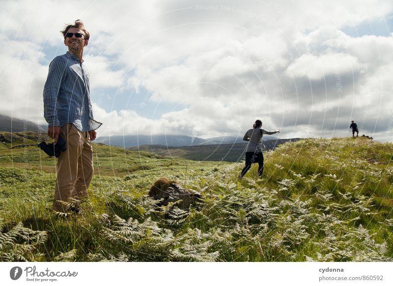 Schottland entdecken Mensch Natur Ferien & Urlaub & Reisen Jugendliche Sommer Junge Frau Landschaft Junger Mann Ferne 18-30 Jahre Erwachsene Berge u. Gebirge
