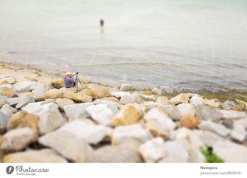 Hansesail 2014 - Warnemuende - The Photographer Strand Meer Fotokamera Mensch Menschenmenge Sand Wasser Wolken Felsen Küste Ostsee Stadt Hafen Stein Blick