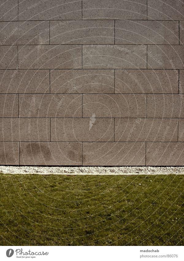 BÜHNE FREI Natur grün Wand Architektur Wiese Gras Hintergrundbild Mauer Spielen grau Stein Linie Ordnung Dekoration & Verzierung trist leer
