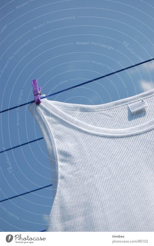 Opas bestes 2 Himmel Sommer weiß Wärme Garten Linie Perspektive Bekleidung Seil Sauberkeit Reinigen violett Physik unten Handwerk Wäsche waschen