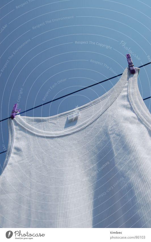 Opas bestes 3 Himmel Sommer weiß Wärme Garten Linie Perspektive Bekleidung Seil Sauberkeit Reinigen violett Physik unten Handwerk Wäsche waschen
