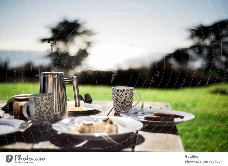 third breakfast Lebensmittel Kaffee Frühstück Vegetarische Ernährung Besteck Häusliches Leben Tisch Holz Gesunde Ernährung Speise Essen Foodfotografie