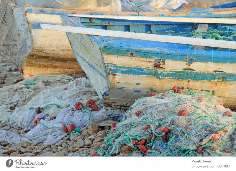 Griechenland Ferien & Urlaub & Reisen Sommer Sonne Meer Erholung ruhig Strand Holz Sand Stimmung Arbeit & Erwerbstätigkeit Tourismus Romantik Hafen Sommerurlaub